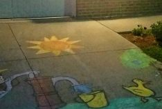 Our residents showed off their talent by designing a chalk masterpiece in front of their home. Every household that participated was entered to win a prize. The Popsicle Patrol kicked off the event by handing out polsicles to everyone who was outside chal